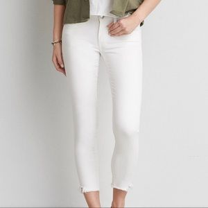 American Eagle Stretch Artist White Crop Jeans 12